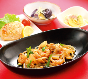 えびと野菜の中華炒め