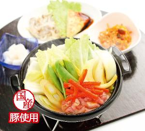 白菜と豚肉の和風カレー鍋
