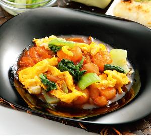 鶏肉と茄子の柚子胡椒炒め