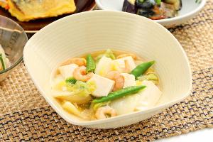 えびと くずし豆腐のとろ煮